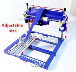 170mm Diameter Curved Screen Printing Machine Manual Press Printer