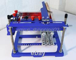 1 Color Manual Cylinder Press Printer Surface Curved Screen Printing Machine