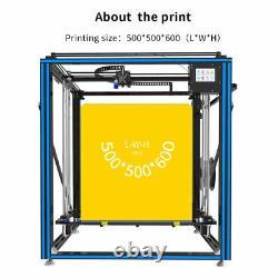 3D Printer Tronxy X5SA-500 Heat Bed 500500600mm DIY kits With Touch Screen