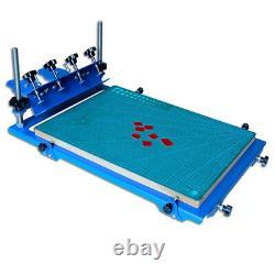 3D Screen Printing Machine Micro-Adjust Silk Screen Printing Press 18x24 Inch