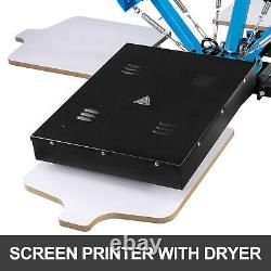 3 Color Screen Printing Equipment Press Kit Machine 4 Station Silk Screening DIY