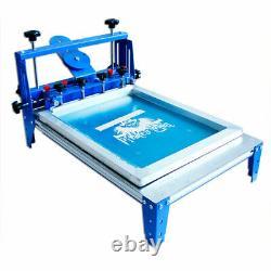 3 Directions Micro-adjustable Vacuum Screen Printer 20 x 24 Blue