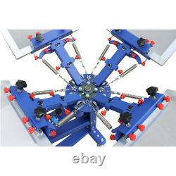 4 Color 1 Station Screen Printer Silk Press Machine Shirt Adjustable Equipment