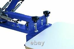 4 Color 1 Station Screen Printing Machine Shirt Press Printer with Metal Holder