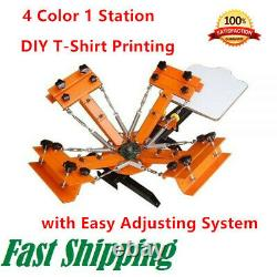 4 Color 1 Station Silk Screen Printing Machine 4-1 Press DIY T-Shirt Printing