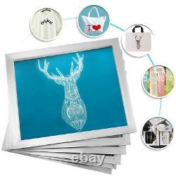 4 Color 1 Station Silk Screen Printing Machine 6 Pcs 156 Mesh Pressing Silk