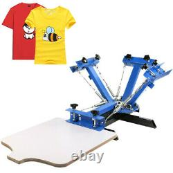 4 Color 1 Station Silk Screen Printing Machine Carousel T-Shirt Pressing