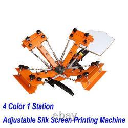 4 Color 1 Station Silk Screen Printing Machine DIY T-Shirt Press Printing