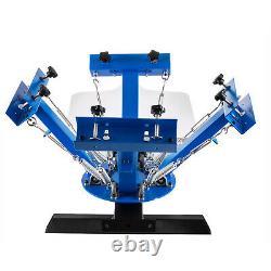 4 Color 1 Station Silk Screen Printing Machine Press Kit T-Shirt Equipment DIY
