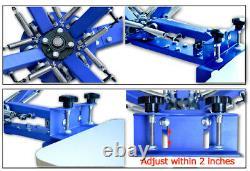 4 Color 1 Station Silk Screen Printing Machine Press Shirt Household Equipment