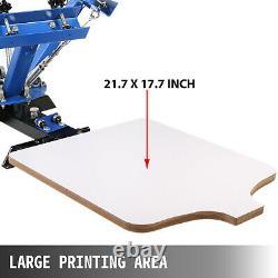4 Color 1 Station Silk Screen Printing Machine T-Shirt Pressing Printer