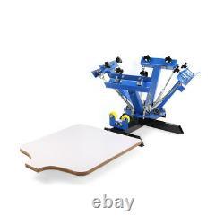 4 Color 1 Station Silk Screen Printing Press Machine Screening Pressing