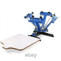 4 Color 1 Station Silk Screen Printing Press Machine With 18x18 Flash Dryer