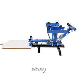 4 Color 1 Station Silk Screen Printing Pressing Machine Printer Manual Print