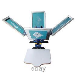 4 Color 2 Station Silk Screen Printing Equipment T-Shirt Printing Press Machine