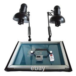 4 Color 2 Station Silk Screen Printing Kit Machine & DIY Materials Exposure Unit