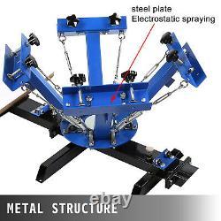 4 Color 2 Station Silk Screen Printing Machine Pressing Printer Printing GREAT