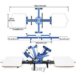 4 Color 2 Station Silk Screen Printing Machine Wood Pressing Print FACTORY PRICE