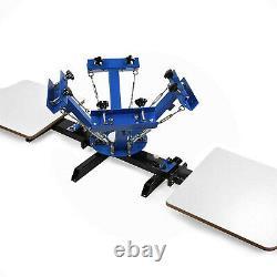 4 Color 2 Stations Silk Screen Printing Machine 18'' Flash Dryer Equipment DIY