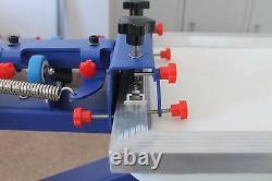 4 Color 4Station Screen Printing Press Silk Screen Machine Rotary Printer Adjust