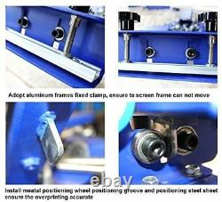 4 Color 4 Station Silk Screen Printing Machine Press Shirt Printer Double Rotary