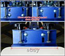 4 Color 4 Station Silk Screen Printing Press Machine Screen Printer T-Shirt DIY