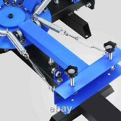 4 Color 4 Station Silk Screening Screenprint Press Screen Printing Machine DIY