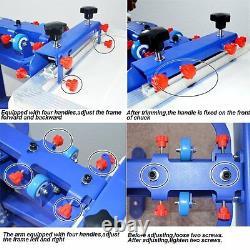 4 Color Printing Machine Screen Printing Press Kit Exposure+Drying Cabinet Print