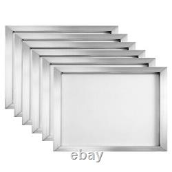 4 Color Screen Printing Machine 6pcs 110 Mesh Aluminum Screen Printing Screens