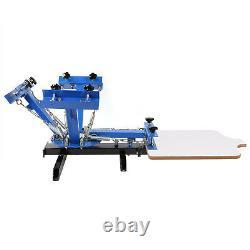 4 Color Screen Printing Press Kit Machine 1 Station Silk Screening Flash Dryer