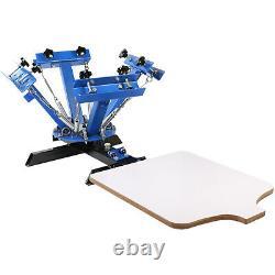 4 Color Screen Printing Press Machine Silk Screening Pressing 1 Station T-shirt