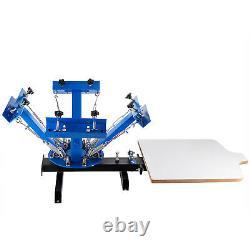 4 Color Screen Printing Press Machine Silk Screening Pressing With 1 Station DIY
