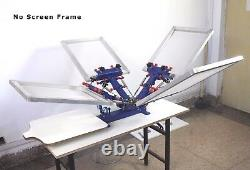 4 Color Screen Printing Printer Micro-adjust Silk screen Printing Press machine