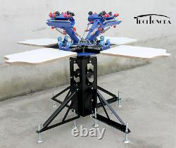 4 Color Silk Screen Printing Kit Flash Dyer Exposure Press Machine & Materials