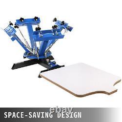 4 color 1 station Screen Printing Machine/ DIY T-Shirt Press Printer