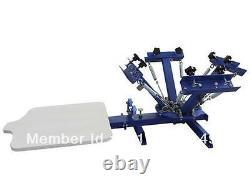 4 color 1 station silk screen printing machine t-shirt printer press equipment Q