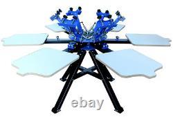6 Color 6 Station Screen Printing Machine Press Printer t shirt Print Equipment