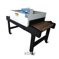 6 Color 6 Station Screen Printing Machine and 220V 4800W Conveyor Tunnel Dryer