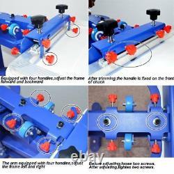 6 Color 6 Station Silk Screen Printing Machine Equipment Pigments Screen Press