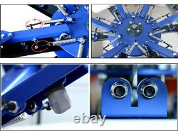 6 Color 6 Station Silk Screen Printing Press Machine Screen Printer Heavy Duty