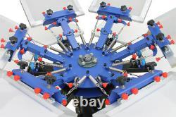 6 Color Silk Screen Printing Machine 6 Station Press Printer DIY Shirt Equipment