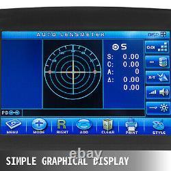 7'' Touch Screen Optical Digital Auto Lensmeter Lensometer PD UV + Printer