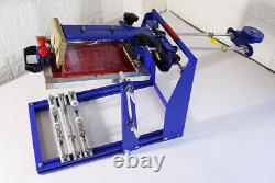 8x10''Cylindrical Screen Printing Machine for 6.7''Dia Cylinder Conical Bottle