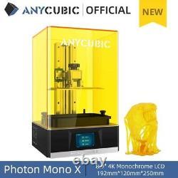 Anycubic LCD Resin 3d Printer Photon Mono X With 4k Monochrome Screen Uv Light