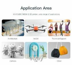Anycybic 3D Printer Kit MEGA S Large Plus Size Full Metal 3.5 TFT Touch Screen