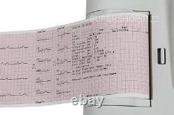 CONTEC Digital 3/6 channel 12-LEAD ECG EKG machine touch screen+Software ECG600G