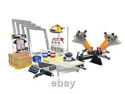 DIY 4 Color Shocker© Start-Up Screen Printing Kit Press Printer Starter 41-4