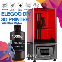 ELEGOO MARS 2 PRO UV Photocuring LCD Resin 3D Printer with 6 LCD Screen+Resin