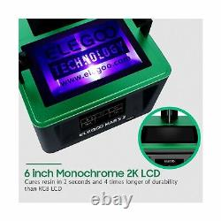 ELEGOO Mars UV Photocuring LCD 3D Printer 3.5'' Smart Touch Color Screen Black