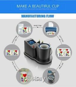 Easy Heat Press Mug Printing Machine 2D Digital pneumatic Thermal Pneumatic
